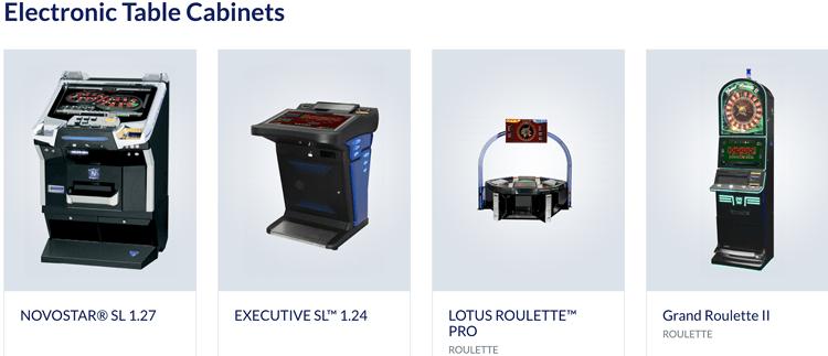 Примеры электронных настольных аппаратов от Новоматик