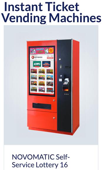 Вендинговый лотерейный аппарат от Новоматик