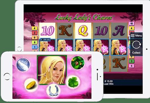 Игровые автоматы Лаки Леди Шарм для телефонов и планшетов